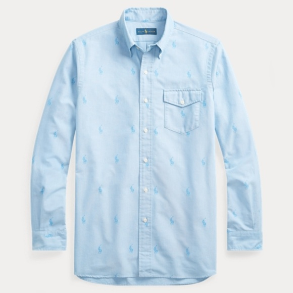 Polo by Ralph Lauren Other - Ralph Lauren LS All Over Pony Classic Fit Shirt